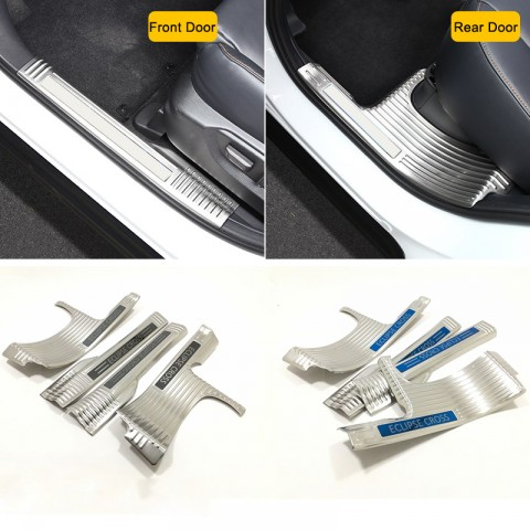 Free Shipping Stainless Inner Door Sill Scuff Plate 4pcs For Eclipse Cross 2017-2018