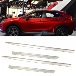 ABS Chrome Side Door Body Molding Cover Trim 4pcs For Eclipse Cross 2017-2018