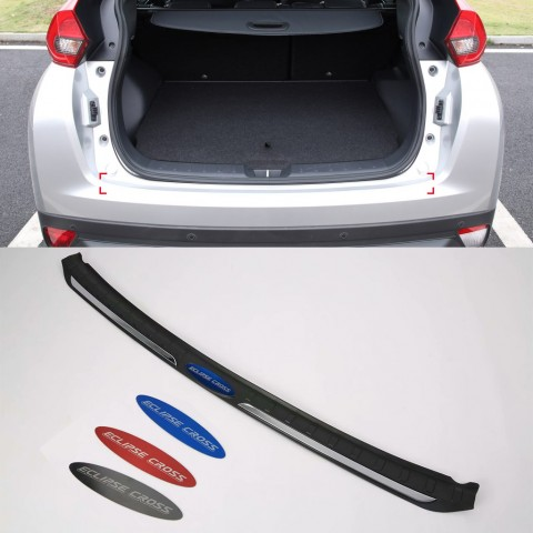 Logo Style Outer Rear Sill Bumper Cover Plate 1pcs For Mitsubishi Eclipse Cross 2017-2018