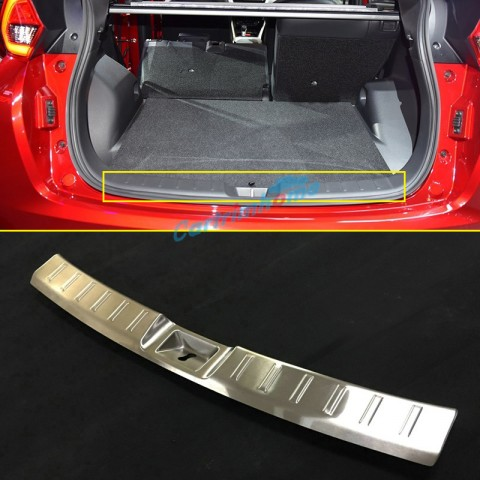 Stainless Inner Rear Sill Bumper Cover Plate 1pcs For Eclipse Cross 2017-2018