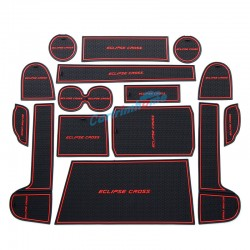 Free Shipping Inner Door Cup Holder Non-Slip Pad Mat 15pcs For Eclipse Cross 2017-2018