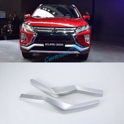 ABS Chrome Front Bumper Lid Cover Trim 2Pcs For Eclipse Cross 2017-2018