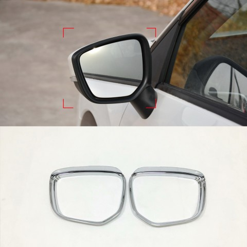 ABS Rearview Side Mirror Eyebrow Cover Trim 2pcs For Mitsubishi Eclipse Cross 2017-2018