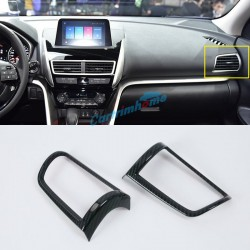 Carbon Style Side Air Condition Vent Cover Trim 2pcs For Eclipse Cross 2017-2018