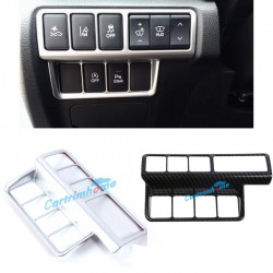 LHD ABS Matt Head Light Switch Button Cover Trim 1pcs For Eclipse Cross 2017-2018