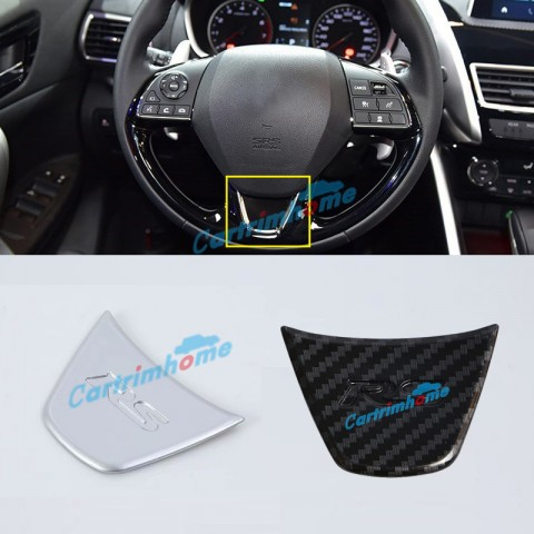 1PCS Interior ABS Matte Steering Wheel Cover Trim For Eclipse Cross 2017-2018