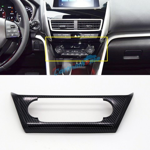 Carbon Style Interior Air Condition Vent Cover 1pcs For Eclipse Cross 2017-2018