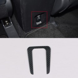 Free Shipping Outer Side Rear Armrest Box USB Interface Cover Trim For Eclipse Cross 2017-2019