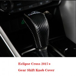 Free Shipping Leather Gear Shift Knob Cover Car Interior Decoration 1pcs For Eclipse Cross 2017-2018