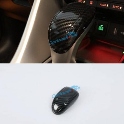 Carbon Style Gear Shift Knob Cover Car Interior Decoration 1pcs For Eclipse Cross 2017-2018