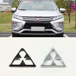 ABS Front Mitsubishi LOGO Frame Cover Trim 1Pcs For Mitsubishi Eclipse Cross 2017-2018