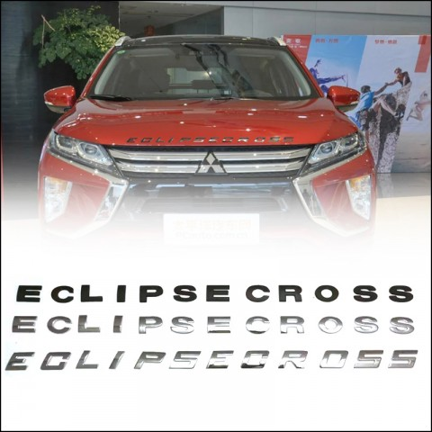 Free Shipping Car 3D Letters Hood Emblem Logo Badge Car Stickers Styling For Mitsubishi Eclipse cross 2017 2018 2019
