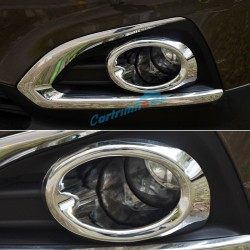 For Peugeot 3008 2009-2015 ABS chrome Car front fog light lamp cover trim sticker frame Auto accessories
