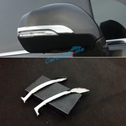 For Peugeot 3008 2009-2015 2PCS Side Door Rear View Mirror Cover Strip Trim ABS Chrome