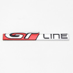 Free Shipping Metal Emblem Badge GT Line Logo 1pcs For Peugeot New 3008 Access / Active / Allure / GT 2016 2017 2018