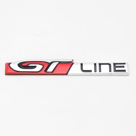 GT Emblema Rojo Metal