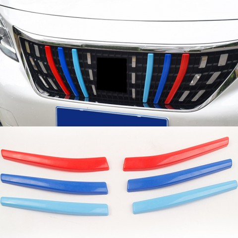 3 M-Color Front Center Grill Grid Grille Cover Trim for Peugeot 3008 Access / Active / Allure / GT 2016 2017 2018