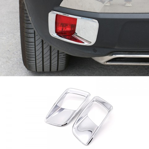 Free Shipping ABS Chrome Rear Fog Light Lamp Cover Trim 2pcs For Peugeot 3008 Access / Active / Allure / GT 2016-2019