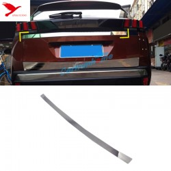 Free Shipping Rear Door Trunk Lid Decoration Trim Cover 1pcs For Peugeot 3008 Access / Active / Allure / GT 2016 2017 2018