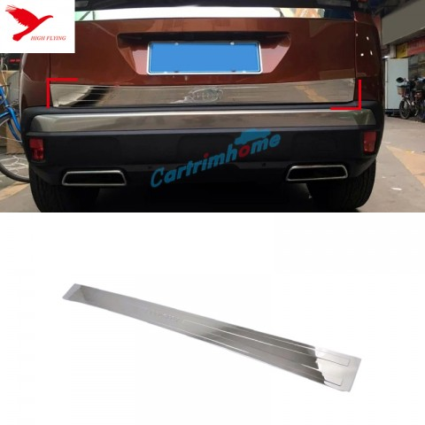Rear Tailgate Lid Bottom Cover Strip Trim Steel 1pcs for Peugeot 3008 Access / Active / Allure / GT 2016-2018