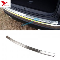 Stainless Outer Rear Sill Bumper Cover Plate 1pcs For Peugeot 3008 GT 2016 2017 2018