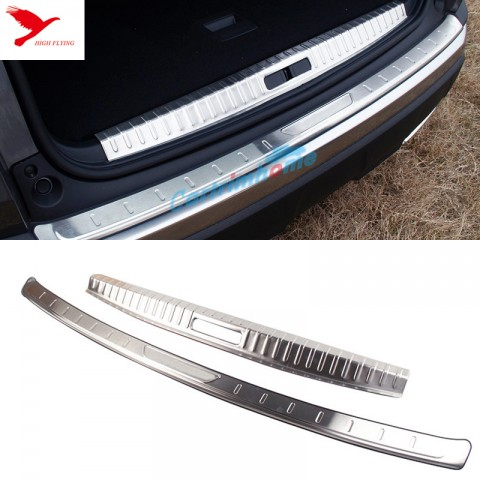 Outer + Inner Rear Sill Bumper Cover Plate 2pcs For Peugeot 3008 Access / Active / Allure / GT 2016 2017 2018