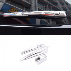 Chrome Rear Window Wiper Noozle Cover Trim 3pcs For Peugeot 3008 Access / Active / Allure / GT 2016 2017 2018