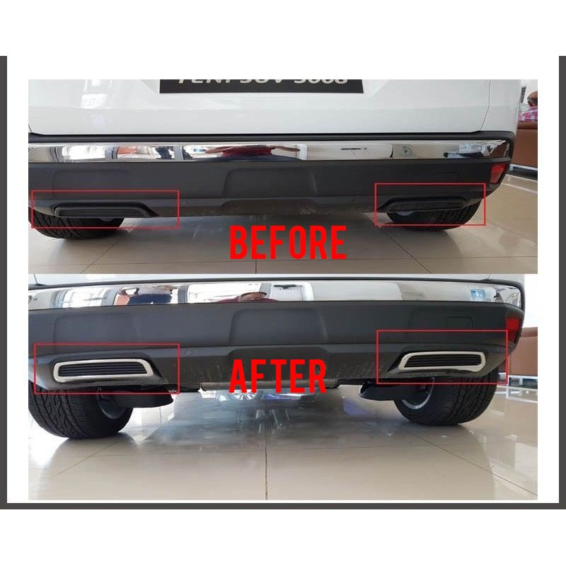 Free Shipping Abs Rear Exhaust Muffler Tip End Pipe