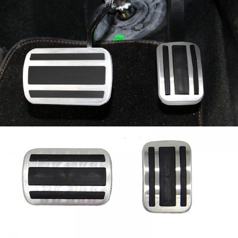 Free Shipping AT Fuel Gas Brake Footrest Pedal Cover 2pcs For Peugeot 3008 Access / Active / Allure / GT 2016-2019