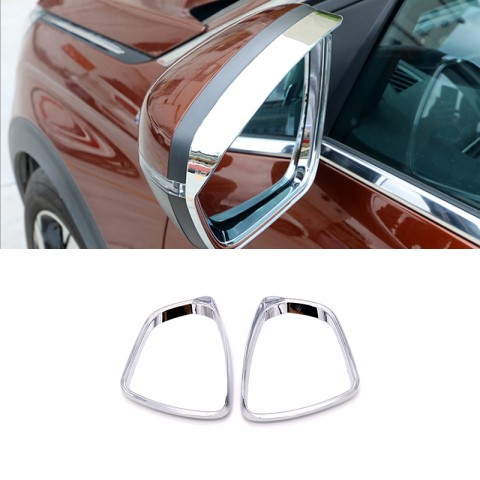 ABS Rearview Side Mirror Eyebrow Cover Trim 2pcs For Peugeot 3008 Access / Active / Allure / GT 2016-2019