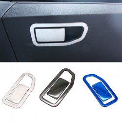 Steel Interior Storage Box Handle Cover Trim 2pcs For Peugeot 3008 Access / Active / Allure / GT 2016 2017 2018