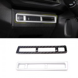 ABS Head Light Switch Button Cover Trim 1pcs For Peugeot 3008 Access / Active / Allure / GT 2016-2019