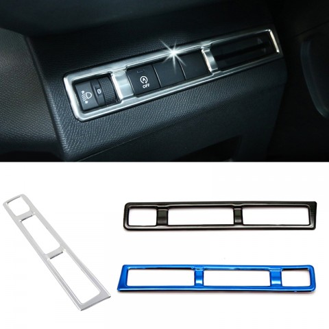 Stainless Head Light Switch Button Cover Trim 1pcs For Peugeot 3008 Access / Active / Allure / GT2016-2019