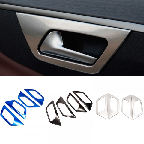 Inner Interior Door Handle Bowl Cover Trim 4pcs For Peugeot 3008 Access / Active / Allure / GT 2016 2017 2018