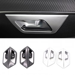 Matt Inner Side Door Handle Bowl Cover Trim 4pcs For Peugeot 3008 Access / Active / Allure / GT 2016 2017 2018