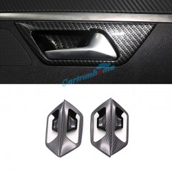 Carbon Style Inner Side Door Handle Bowl Cover Trim 4pcs For Peugeot 3008 Access / Active / Allure / GT 2016 2017 2018