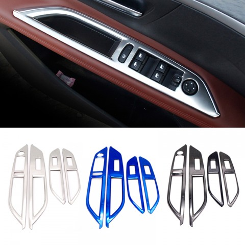 Stainless Door Armrest Lift Frame Cover Trim 4pcs For Peugeot 3008 Access / Active / Allure / GT 2016-2019