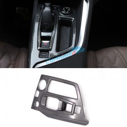 Carbon Style Interior Gear Shift Box Panel Cover Trim For Peugeot 3008 Access / Active / Allure / GT 2016 2017 2018