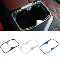 Steel Water Cup Holder Decoration Cover Trim 1pcs For Peugeot 3008 Access / Active / Allure / GT 2016-2019