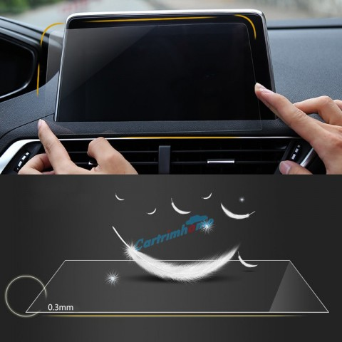 Free Shipping Car Sticker GPS Navigation Screen Steel Protective Film For Peugeot 3008 Access / Active / Allure / GT 2016 2017 2018 Control of LCD Screen