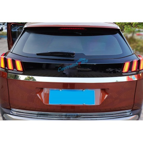 Rear Tail Light Honeycomb Style Stickers Cover Trim For Peugeot 5008 GT 2017 2018