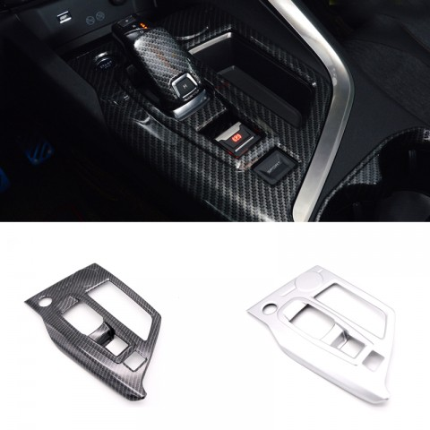 Low-Equipped!ABS Matt Interior Gear Shift Box Panel Cover Trim For Peugeot 3008 Access / Active / Allure / GT 2016 2017 2018