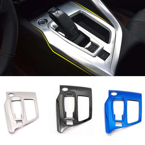Low-Equipped Steel Silver Interior Gear Shift Box Panel Cover Trim For Peugeot 3008 Access / Active / Allure / GT 2016 2017 2018