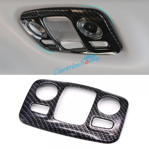 Carbon Style Rear Reading Light Lamp Cover Trim 1pcs For Peugeot 3008 Access / Active / Allure / GT 2016 2017 2018