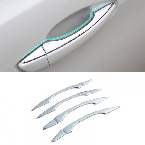 ABS Chrome Side Door Handle Stripe Cover Trim 8pcs For Peugeot 5008 2017 2018