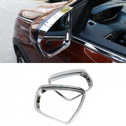 ABS Chrome Rearview Side Mirror Eyebrow Cover Trim 2pcs For Peugeot 5008 2017 2018