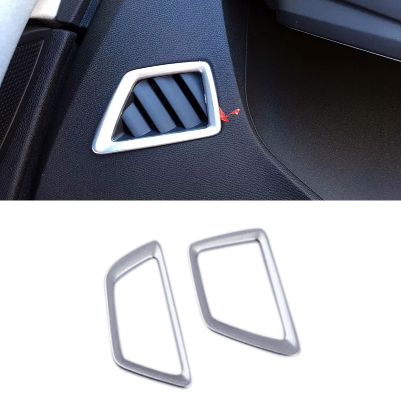 Steel Interior Front Upper Air vent Cover Trim For LHD Peugeot 5008 2017