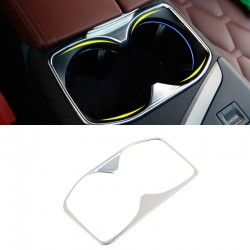 1*Steel Interior Front Water Cup Holder Cover Decoration for Peugeot 5008 2017 2018