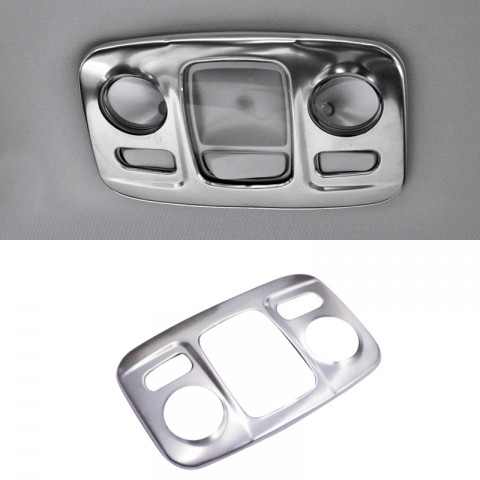 Accessories Steel Interior Rear Reading Light Cover Trim  for Peugeot 5008 2017 2018