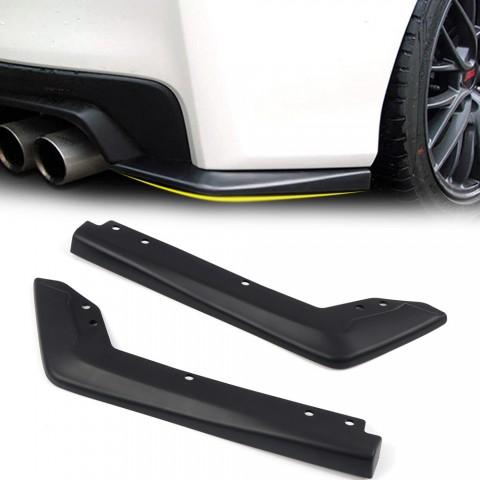 Free Shipping Rear Bumper Lip Spoiler Side Skirt Diffuser Protector 2pcs For Subaru WRX STI 2015-2021